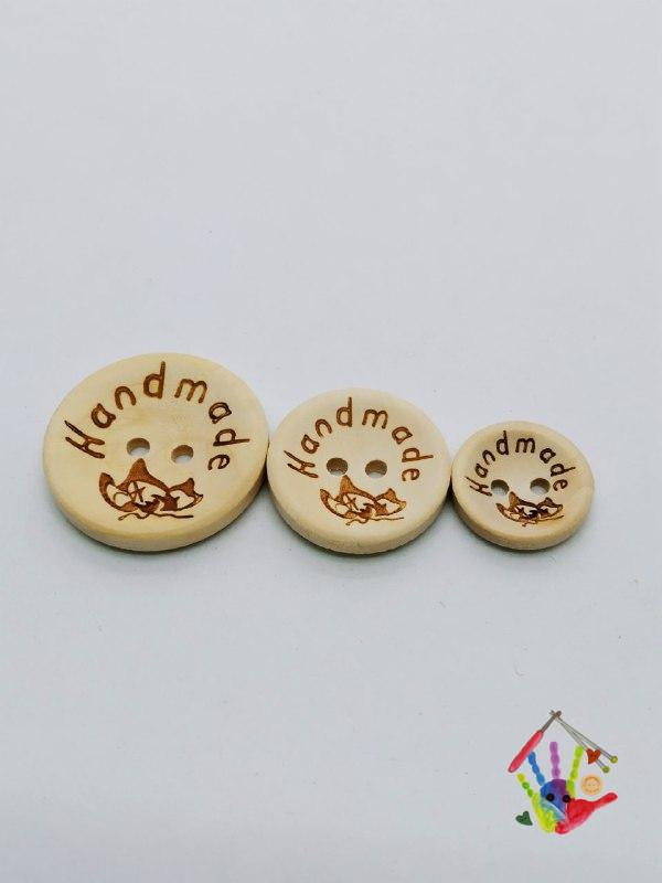 Гудзики Handmade з метеликом