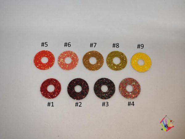 Блиск для очей 3D трапеції 20 мм, червоно-жовта палітра кольорів